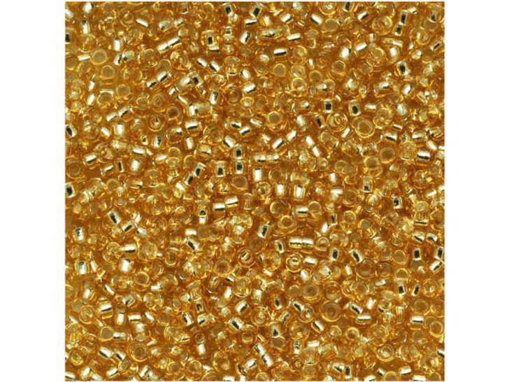 TOHO Bead Round 15/0 Silver-Lined Medium Gold 2.5-Inch Tube