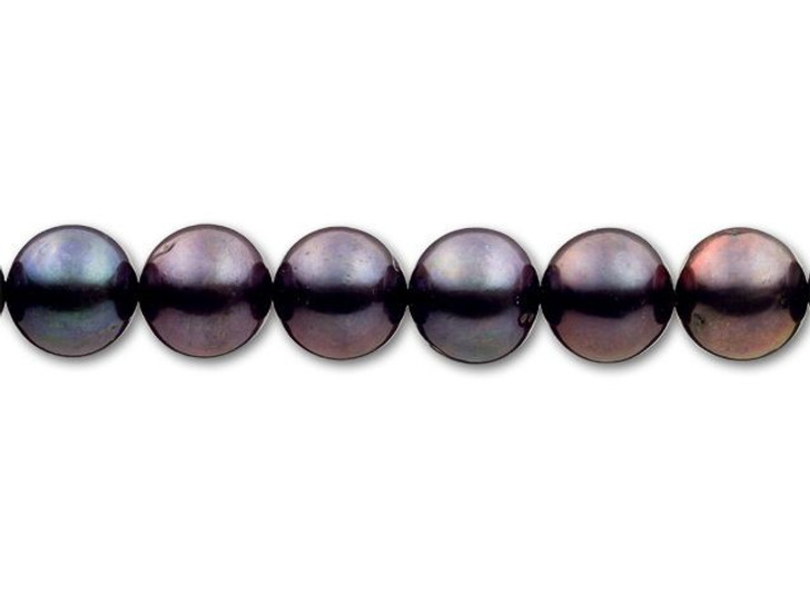 9.5-10mm Peacock Round Freshwater Pearl Strand