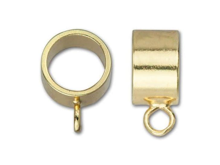9.5x5mm Gold-Plated Brass Pendant Slider Bail
