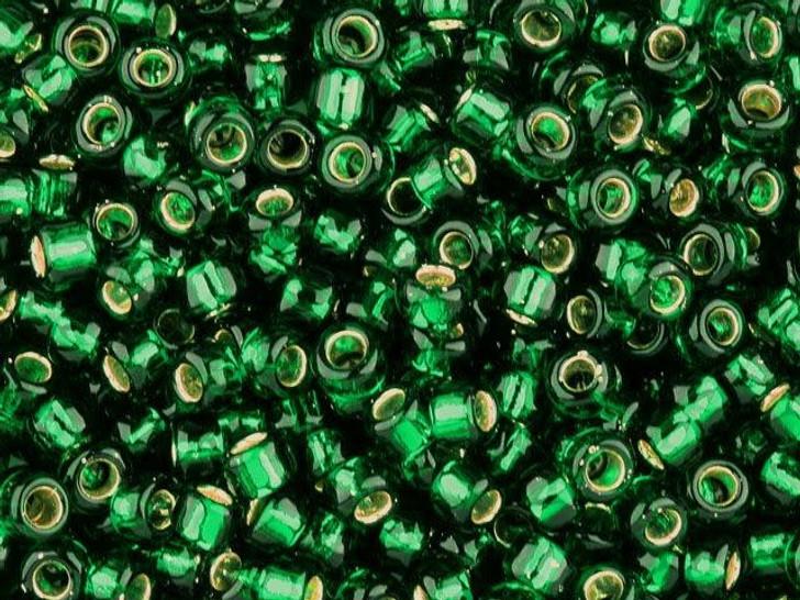 TOHO Bead Round 6/0 Silver-Lined Emerald 2.5-Inch Tube
