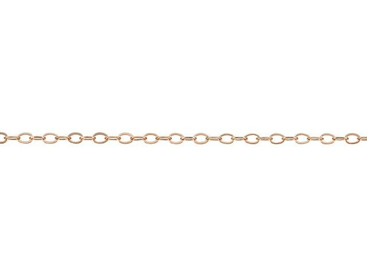922 Rose Gold-Filled 14K/20 Hammered Cable Chain by the Foot