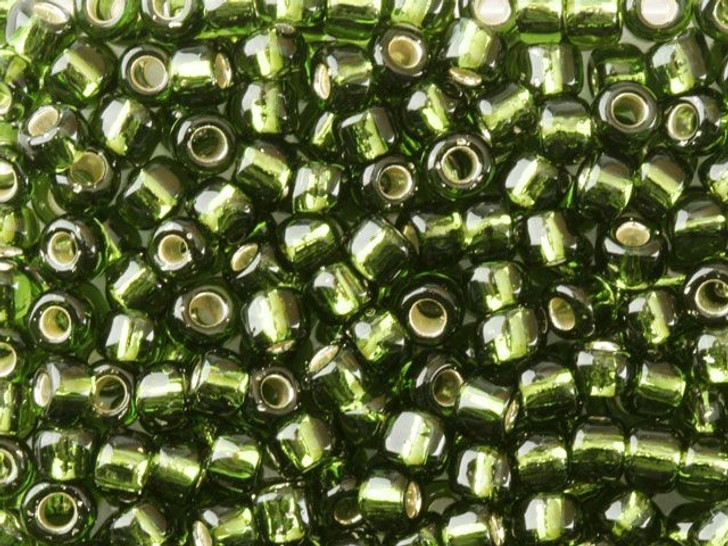 TOHO Bead Round 6/0 Silver-Lined Olivine 2.5-Inch Tube