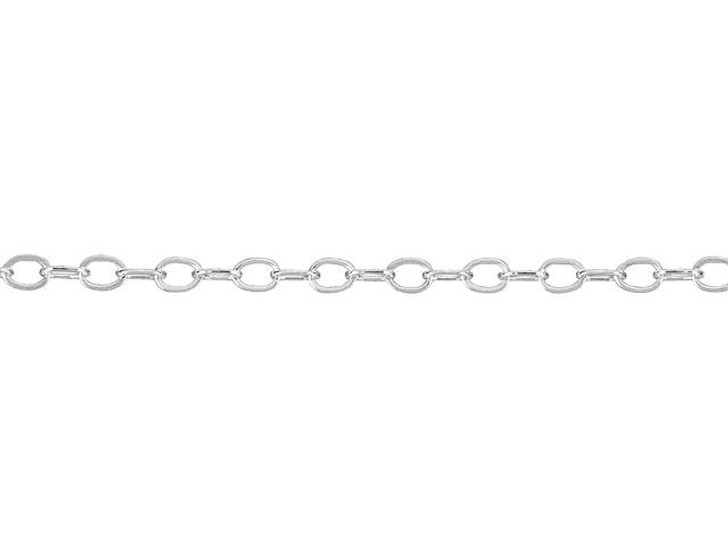 922 Sterling Silver Hammered Cable Chain by the Foot