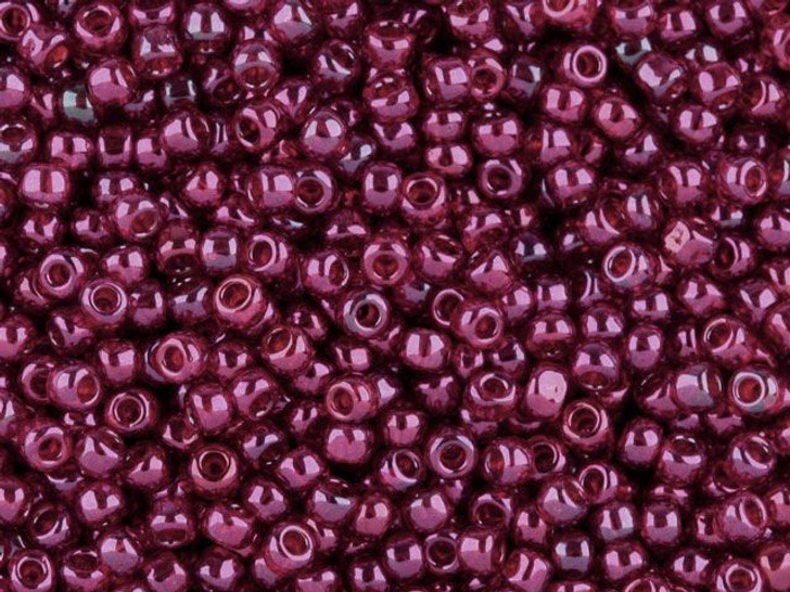 TOHO Bead Round 8/0 Cranberry Gold Luster, 2.5-Inch Tube