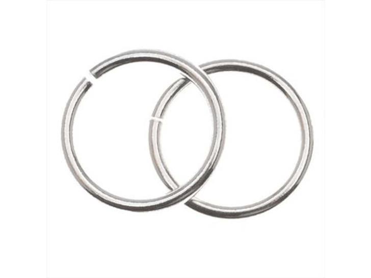 Silver-Filled 925/10 10mm Open Jump Ring, 18 Gauge