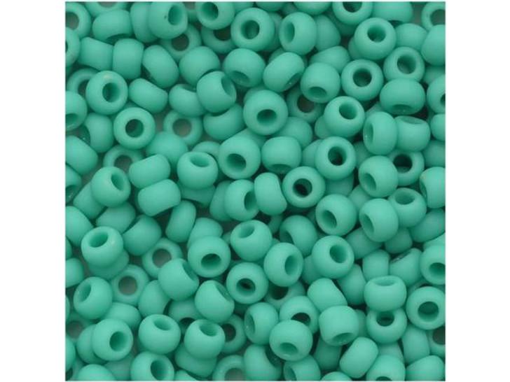 TOHO Bead Round 8/0 Matte Opaque Turquoise, 2.5-Inch Tube