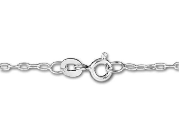 Silver-Filled 925/10 18-Inch Drawn Cable Chain Necklace