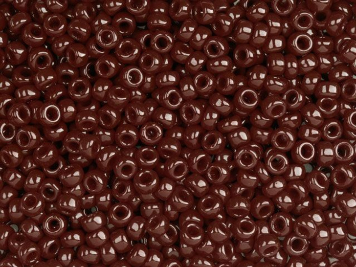 TOHO Bead Round 8/0 Opaque Red Brown 2.5-Inch Tube