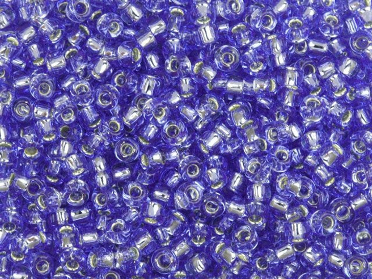 TOHO Bead Round 8/0 Silver-Lined Light Sapphire, 2.5-Inch Tube