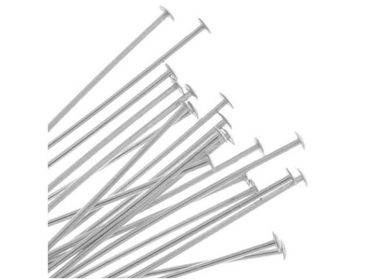 Silver-Filled 925/10 3-Inch Head Pin, 22 Gauge