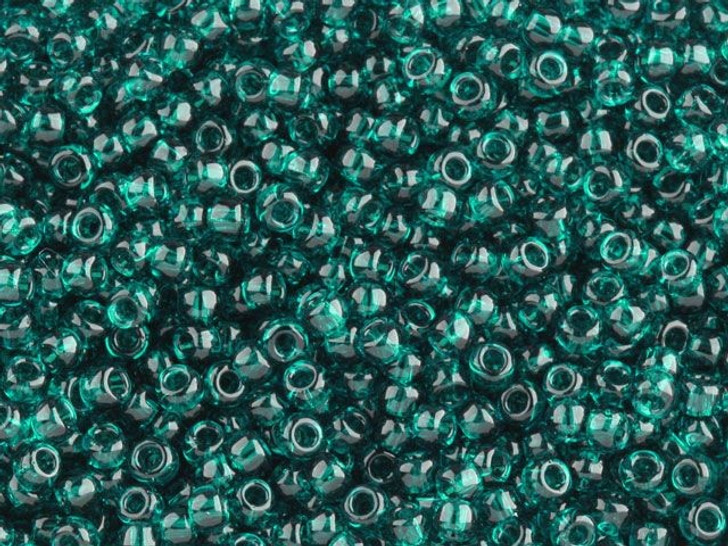 TOHO Bead Round 8/0 Transparent Teal, 2.5-Inch Tube