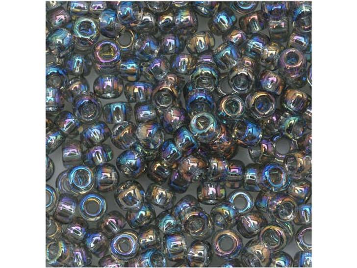 TOHO Bead Round 8/0 Trans-Rainbow Black Diamond AB, 2.5-Inch Tube
