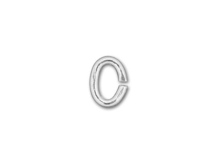 Silver-Filled 925/10 3x4mm Oval Open Jump Ring, 21 Gauge