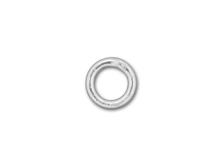 Silver-Filled 925/10 4mm Closed Jump Ring, 21 Gauge