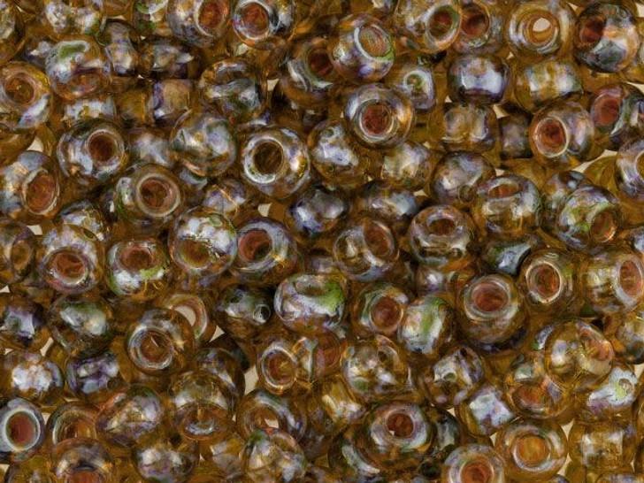 TOHO Bead Round Hybrid 6/0 Natural Picasso, 8g bag