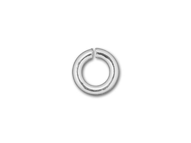 Silver-Filled 925/10 4mm Open Jump Ring, 19 Gauge