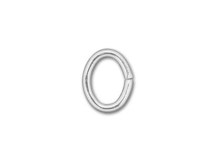 925/10 Silver-Filled 4x5mm Oval Open Jump Ring, 21 gauge