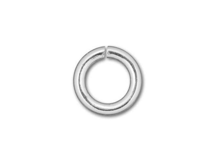 Silver-Filled 925/10 5.5mm Open Jump Ring, 18 Gauge