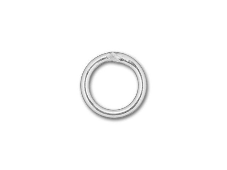 Silver-Filled 925/10 5mm Closed Jump Ring, 21 Gauge