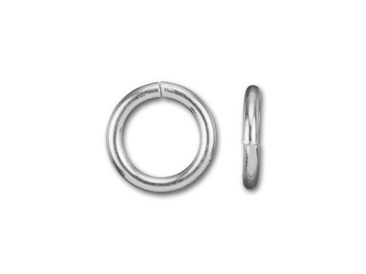 925/10 Silver-Filled 5mm Open Jump Ring, 20 Gauge