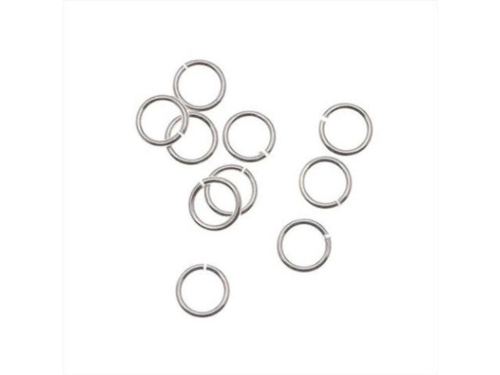 Silver-Filled 925/10 5mm Open Jump Ring, 21 Gauge