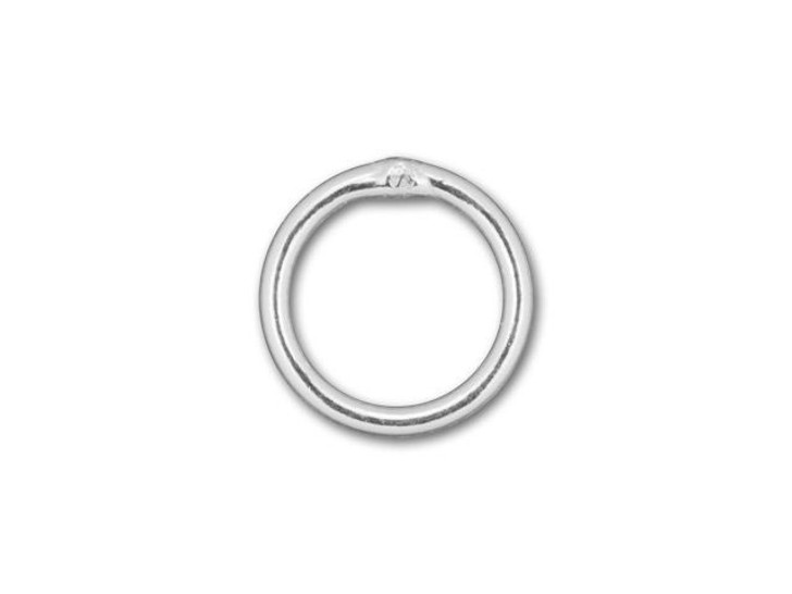 Silver-Filled 925/10 6mm Closed Jump Ring, 21 Gauge