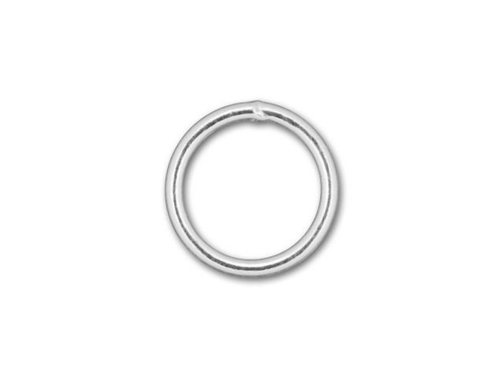 Silver-Filled 925/10 6mm Closed Jump Ring, 22 Gauge