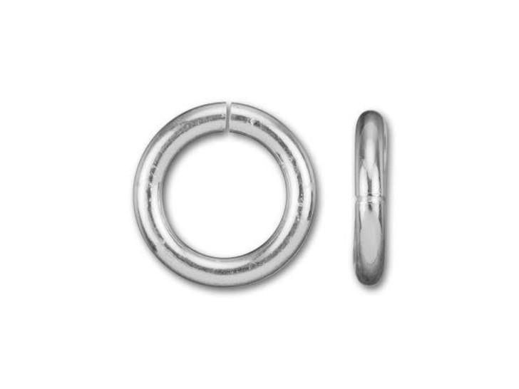 Silver-Filled 925/10 6mm Open Jump Ring, 18 Gauge