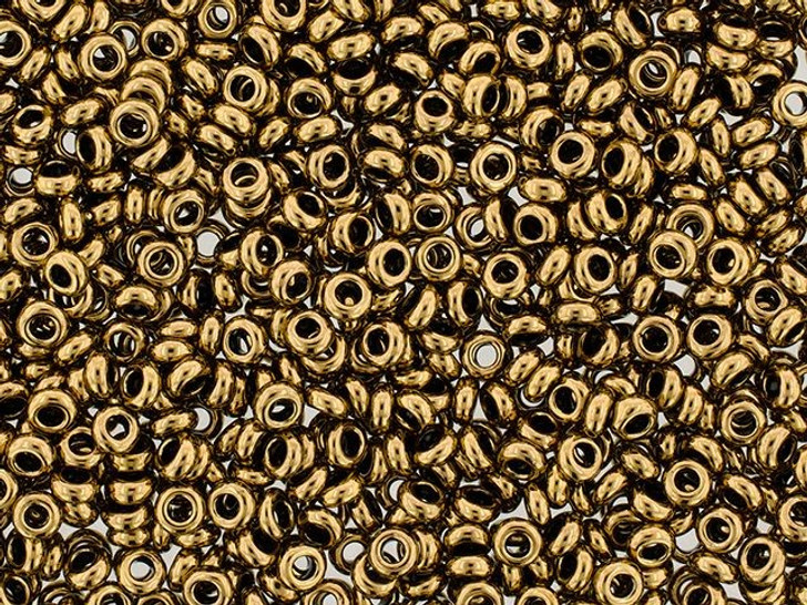 TOHO Demi Round Bead 6/0 Frosted Bronze 2.5-Inch Tube