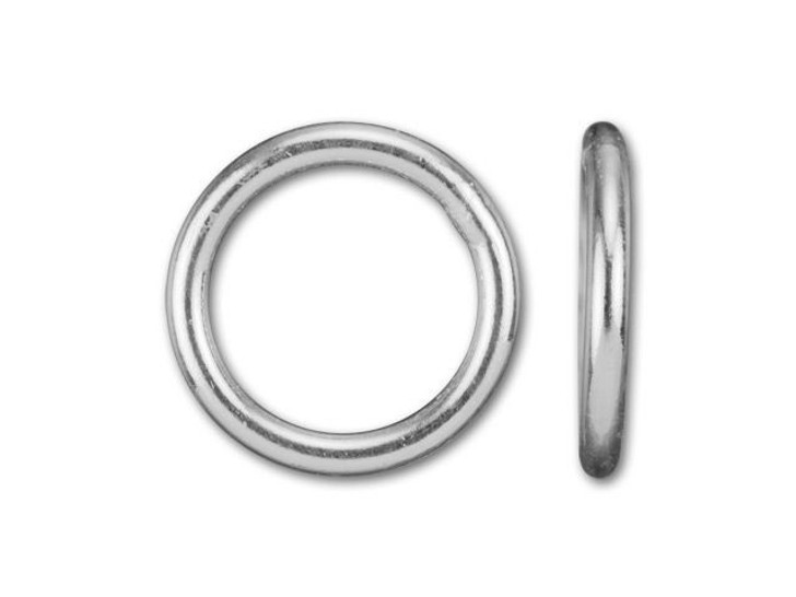 Silver-Filled 925/10 8mm Closed Jump Ring, 18 Gauge