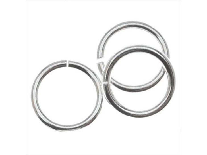Silver-Filled 925/10 8mm Open Jump Ring, 18 Gauge