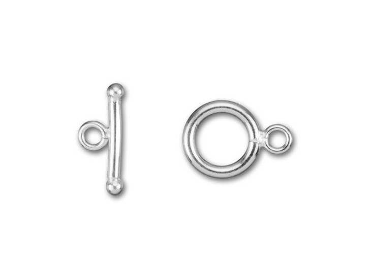Silver-Filled 925/10 9mm Plain Round Toggle Clasp
