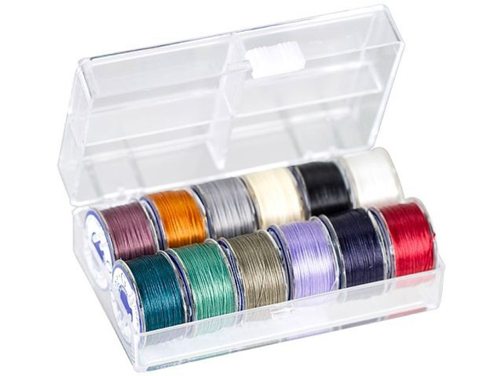 TOHO One-G Beading Thread 12-Color Dark Assortment with Case