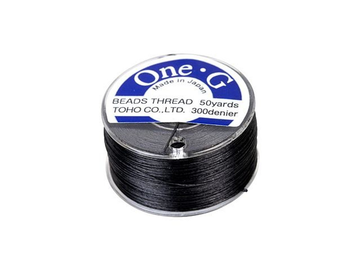 TOHO One-G Beading Thread Black 50-Yard Spool