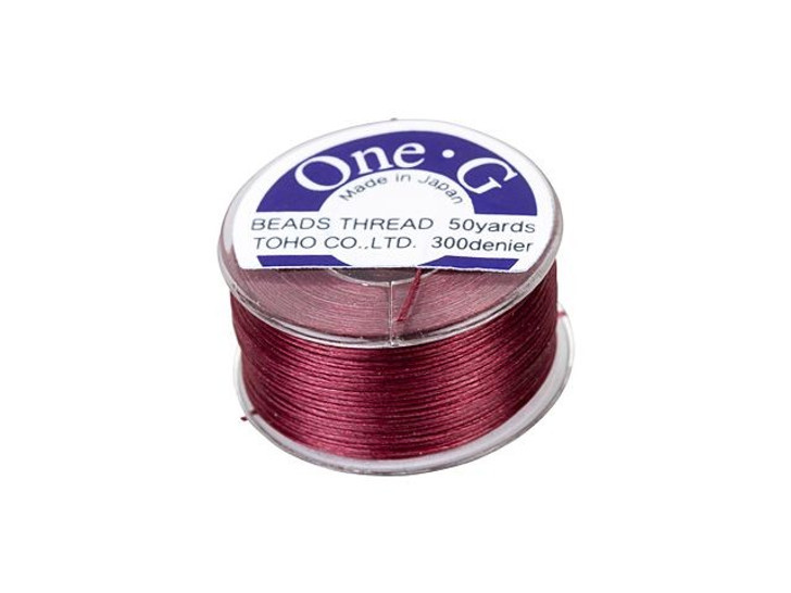 TOHO One-G Beading Thread Burgundy 50-Yard Spool