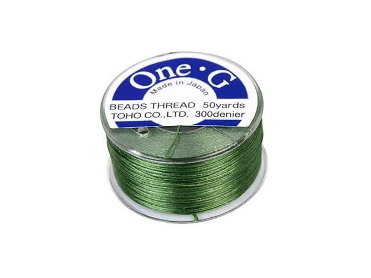 TOHO One-G Beading Thread Green 50-Yard Spool