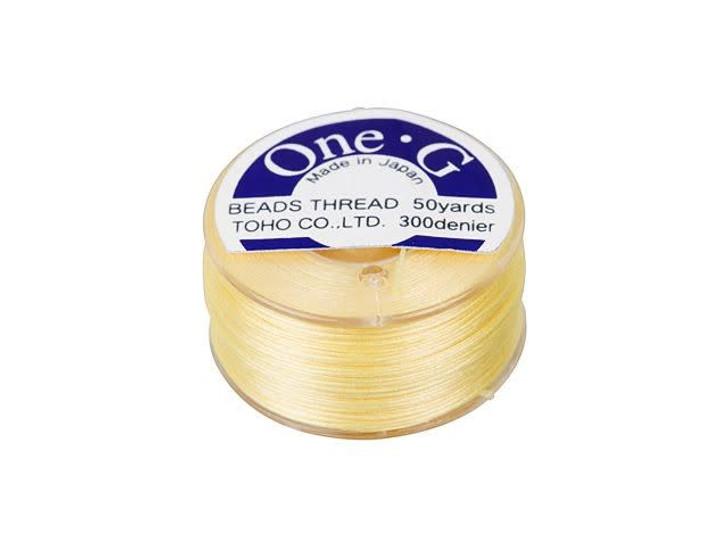 TOHO One-G Beading Thread Light Yellow 50-Yard Spool