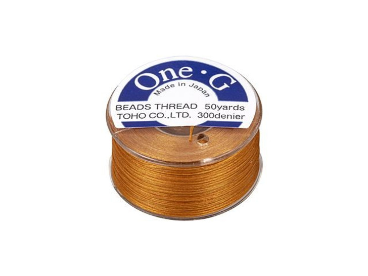 TOHO One-G Beading Thread Orange 50-Yard Spool