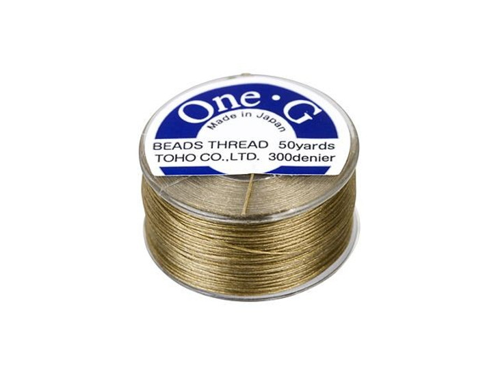 TOHO One-G Beading Thread Sand Ash 50-Yard Spool