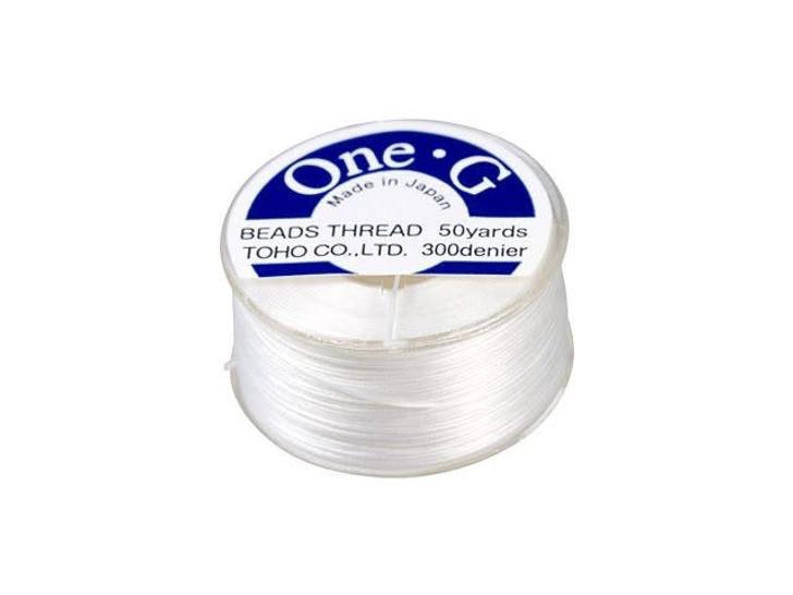 TOHO One-G Beading Thread White 50-Yard Spool
