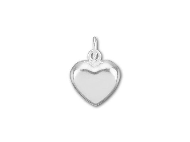 Silver-Filled 925/10 Puffed Heart Charm