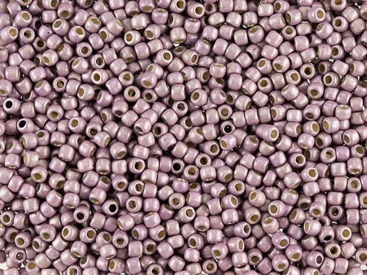 TOHO Round Bead 11/0 PermaFinish Matte Galvanized Lilac 2.5-Inch Tube