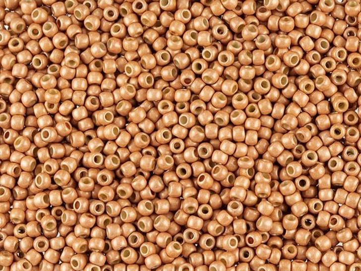 TOHO Round Bead 11/0 PermaFinish Matte Galvanized Rose Gold 2.5-Inch Tube