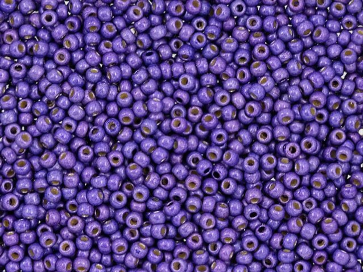 TOHO Round Bead 11/0 PermaFinish Matte Galvanized Violet 2.5-Inch Tube