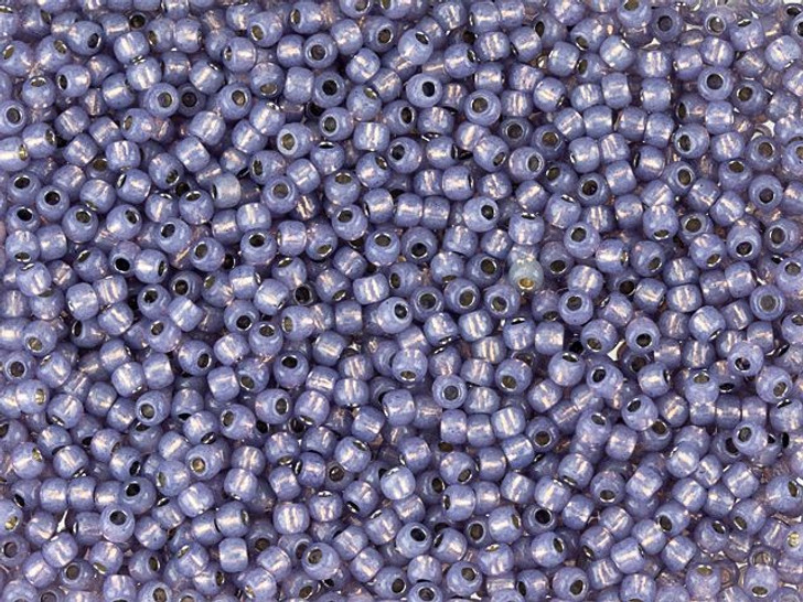 TOHO Round Bead 11/0 PermaFinish Silver-Lined Milky Tanzanite 2.5-Inch Tube