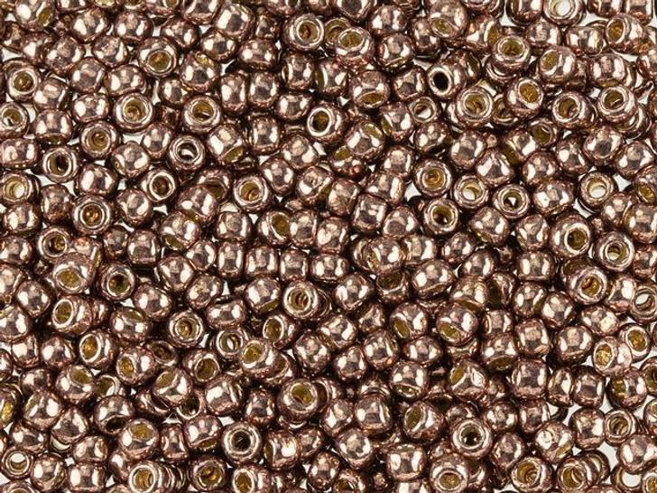 TOHO Round Bead 8/0 PermaFinish Galvanized Mauve 2.5-Inch Tube