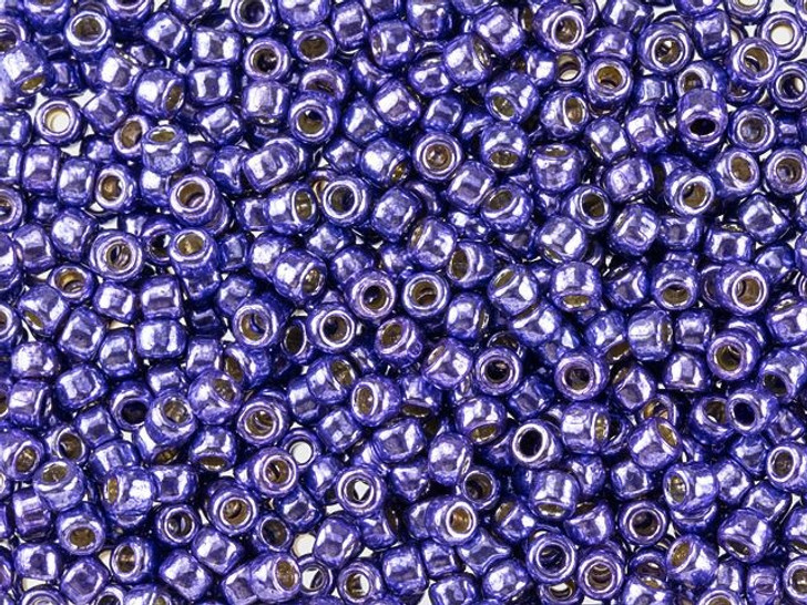 TOHO Round Bead 8/0 PermaFinish Galvanized Violet 2.5-Inch Tube