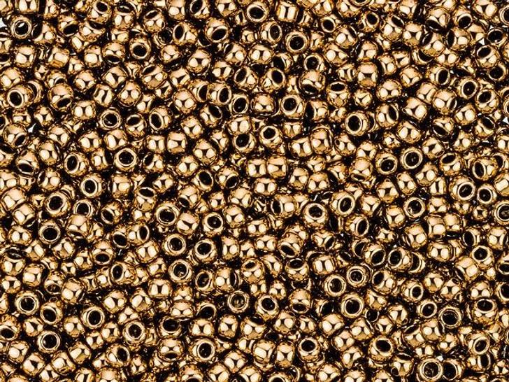 TOHO Takumi Large-Hole Round 11/0 Bead - Bronze 2.5-Inch Tube