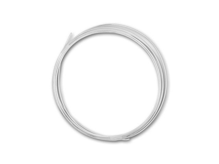Silver-Filled 925/10 Wire Round 18 Gauge Half Hard - Approx. 1 Troy Ounce (14 Feet)