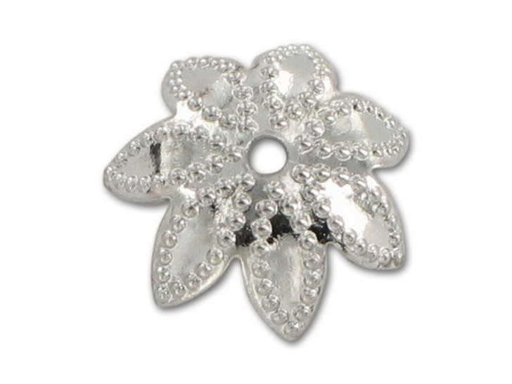 9mm Nickel-Plated Dotted Star Bead Cap